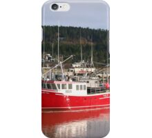 Colorful Lobster Boats Docked On The Bay Of Fundy iPhone Case/Skin