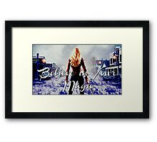 Believe In Your Magic, Emma Swan Framed Print
