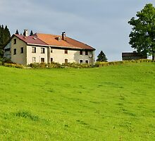 House and tree in Jura mountains by Patrick Morand