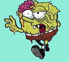 Sponge Bob Square Pants Zombie  by abstractoworld