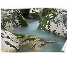 Silky water in Cheran river Poster