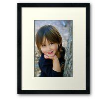 Little Bright Eyes Framed Print