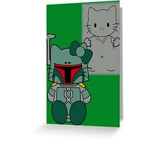SOLO and FETT KITTY Greeting Card