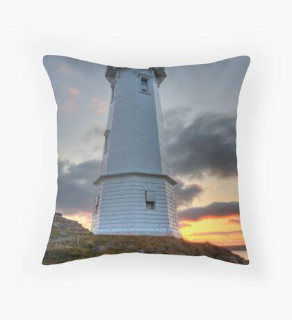 Louisbourg Lighthouse at Sunset Throw Pillow