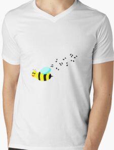 Bee Music Mens V-Neck T-Shirt