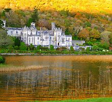 Kylemore Abbey - Autumnal Sunset Reflections by Honor Kyne