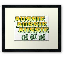 Aussie Aussie Aussie oi oi oi Framed Print
