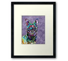 Psychedelic Dog Framed Print