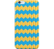 simple yellow and blue knit pattern iPhone Case/Skin