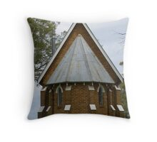 Old Church at Forest Reefs Throw Pillow