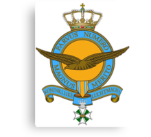 Emblem of the Royal Netherlands Air Force Canvas Print