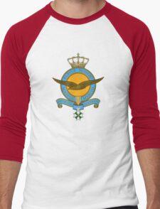 Emblem of the Royal Netherlands Air Force Men's Baseball ¾ T-Shirt
