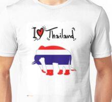 I LOVE THAI ELEPHANTS Unisex T-Shirt