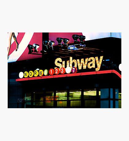New York City Subway Photographic Print