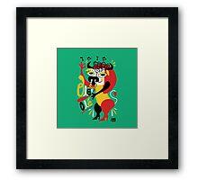 Toro loco - Crazy bull spanish ole ole Framed Print