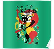 Toro loco - Crazy bull spanish ole ole Poster