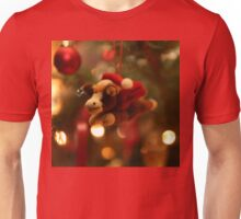 Christmas Pony with Santa Hat and Wings Unisex T-Shirt
