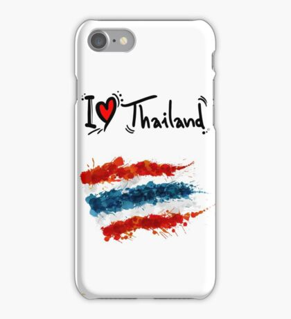 I LOVE THAILAND FLAG iPhone Case/Skin