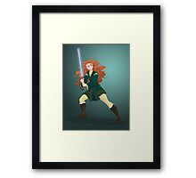 Aye, the Force is Strong With This One Framed Print