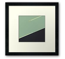 Diagonal Touch Framed Print