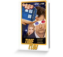 Time Club   Doctor Who   The Tenth Doctor & Rose Tyler   3D Glasses Greeting Card