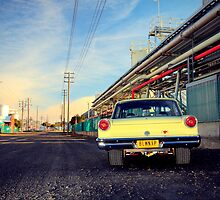 Yellow Ford Falcon XP by John Jovic