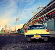 Yellow Ford Falcon XP by John Jovic