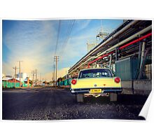 Yellow Ford Falcon XP Poster