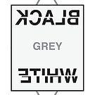 Black, White, Grey Print by huliodoyle