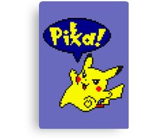 Pika Pikachu - Pokemon Yellow Version Canvas Print