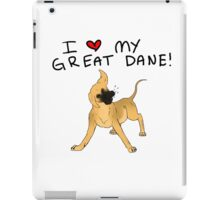 Great Dane Lover iPad Case/Skin