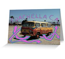Coachella Bus Greeting Card