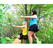 If Spock and Kirk were females Photographic Print