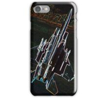 Neon F-15 Fighter Jet iPhone Case/Skin