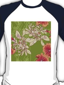 Seamless floral background with peonies T-Shirt