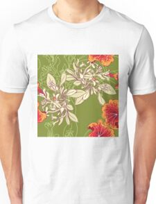 Seamless floral background with peonies Unisex T-Shirt
