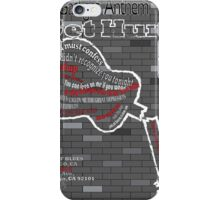 The Gaslight Anthem Get Hurt Tour Poster  iPhone Case/Skin