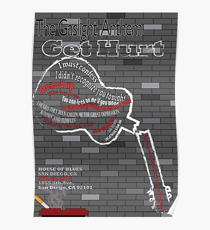 The Gaslight Anthem Get Hurt Tour Poster  Poster