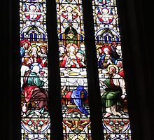 Last Supper Stained Glass Window by Lesley  Hill