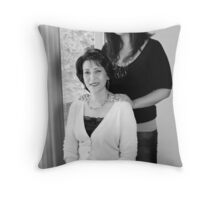 Mother & Daughter Throw Pillow