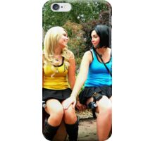 Female Spock and Kirk in love iPhone Case/Skin