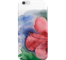 Seamless floral background watercolor iPhone Case/Skin