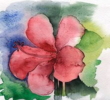 Seamless floral background watercolor by OlgaBerlet