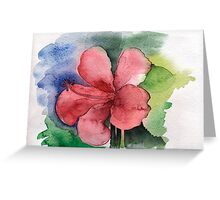 Seamless floral background watercolor Greeting Card