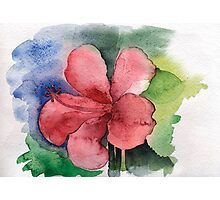 Seamless floral background watercolor Photographic Print