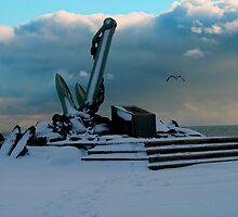 Naval Memorial In Winter by HALIFAXPHOTO
