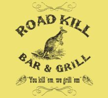 Road Kill Bar & Grill Retro by Ross Robinson