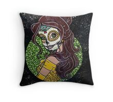 Sugar Skull Belle Throw Pillow