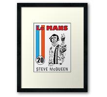 STEVE McQUEEN LE MANS Framed Print