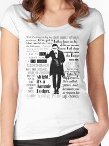 Elevent hour - on white Women's Fitted Scoop T-Shirt